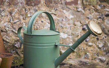 Garden Trading Zahradní konev Greengage 5 l, zelená barva, kov