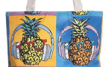 Fashion Icon Módní textilní taška Pineapple ananas bavlněná