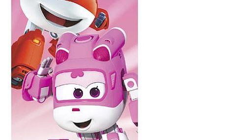 Plážová Osuška Super Wings Růžová
