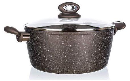 Banquet Kastrol s nepřilnavým povrchem PREMIUM Dark Brown 28 x 12,5 cm, s poklicí