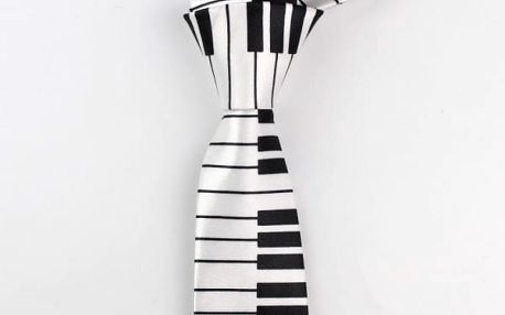 Pánská kravata s hudebními motivy - 16 variant