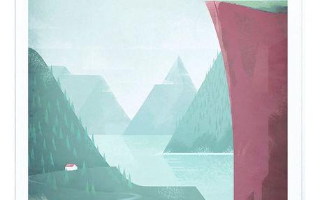 Plakát Travelposter Norway,A3