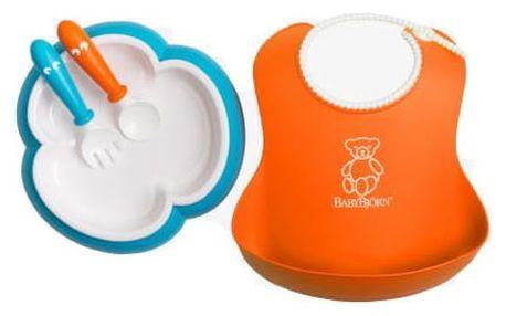 BABYBJÖRN Jídelní set 4dílný – Orange/Tyrkys
