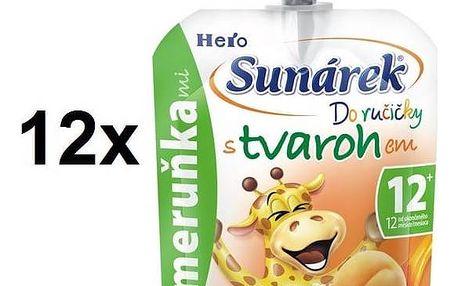 Sunárek Do ručičky s meruňkami a tvarohem, 80g x 12ks