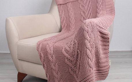 Růžová deka Tuti,170x130cm