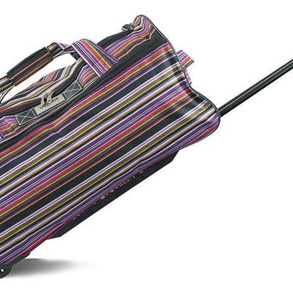Pruhovaná cestovní taška na kolečkách INFINITIF, délka 50 cm