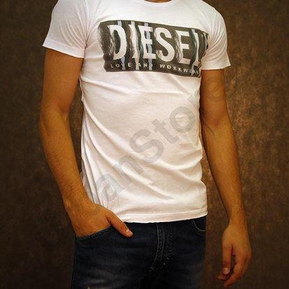 Tričko Diesel T-CONOPUS-RS MAGLIETTA Bílá