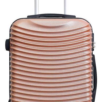 Cestovní kufr v barvě růžového zlata na kolečkách Hero Etna, 61 l