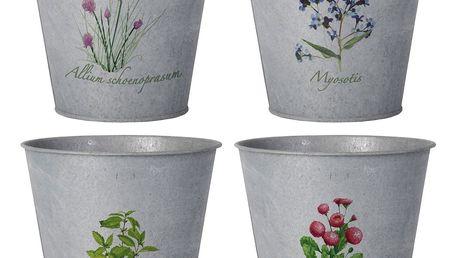 Sada 4 obalů na květináč Esschert Design Botanika
