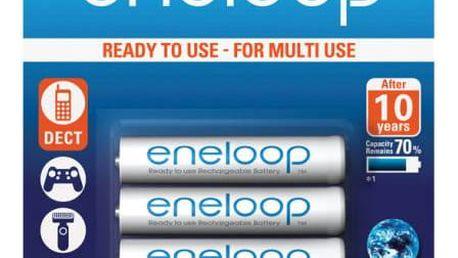 Panasonic Eneloop AAA, 750mAh, 4 ks (BK-4MCCE/4BE) bílá