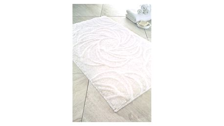 Bílá koupelnová předložka Confetti Bathmats Afrodis, 60x100cm