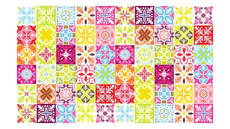 Sada 60 samolepek Ambiance Colored, 10 x 10 cm