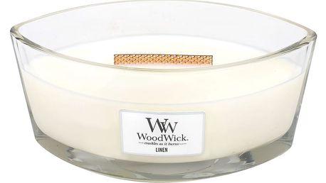 WoodWick Vonná svíčka WoodWick Čisté prádlo 454 g, krémová barva, sklo, vosk