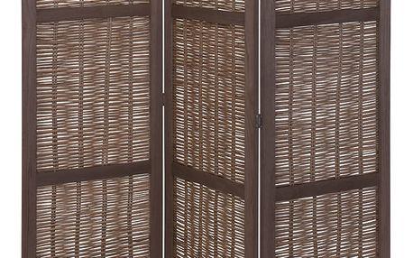 Dřevěný ozdobný panel, skládací, proutěný Home Styling Collection