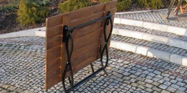 Tradgard WEEKEND FSC 6510 Dřevěný skládací zahradní stůl2