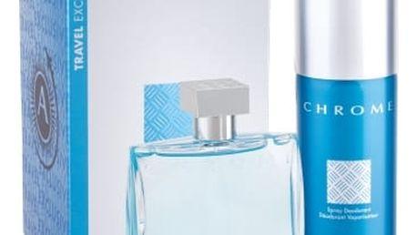 Azzaro Chrome 100 ml dárková kazeta dárková sada pro muže toaletní voda 100 ml + deodorant 150 ml