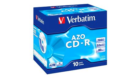 Disk Verbatim CD-R DLP 700MB/80min, 52x, jewel box, 10ks (43327)