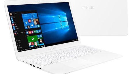 Notebook Asus VivoBook E502NA-GO001T bílý + dárky (E502NA-GO001T)