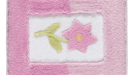 Růžová předložka do koupelny Confetti Bathmats Anjelik, 60 x 100 cm