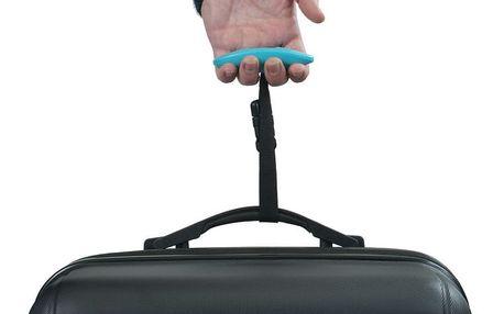 Modrá digitální váha pro zvážení kufru Bluestar