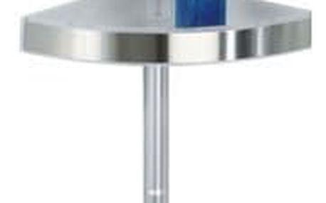 Koupelnová rohová police Premium Edge, 3 úrovně, zrcadlo, teleskopická, WENKO