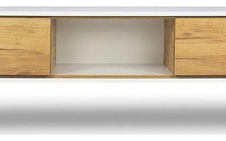 TV komoda v dekoru dřeva SKANDICA Jorgen