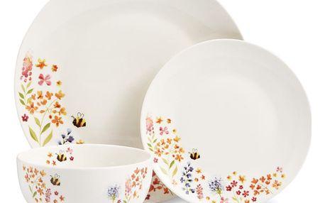 12dílný set nádobí z porcelánu Cooksmart England Flowers