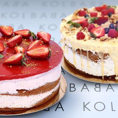 Medovo-ořechový či jahodový dort z Kolbaby
