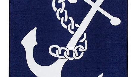Modrobílý oboustranný koberec Homedebleu Anchor, 80 x 150 cm