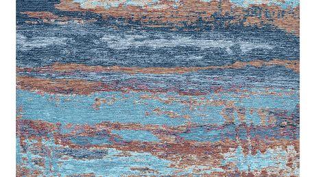 Modrý koberec Kate Louise Vintage, 80x150cm
