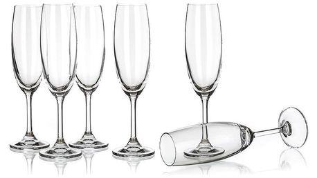 Banquet Crystal Sklenice na sekt Leona 210 ml
