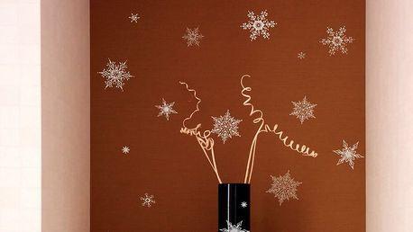 Sada 30 vánočních samolepek Fanastick Christmas Silver Flakes