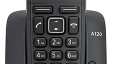 Domácí telefon Siemens Gigaset A120 černý (S30852-H2401-R601)