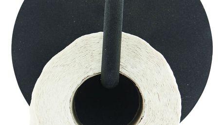 House Doctor Kovový držák na toaletní papír Black, černá barva, kov