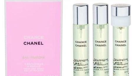 Chanel Chance Eau Fraiche 3x20 ml toaletní voda Náplň pro ženy
