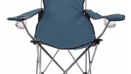Divero 35105 Skládací kempingová židle s polštářkem - modrá