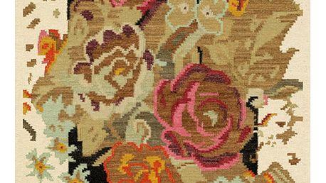 Světlý koberec Kate Louise Flowered, 80x150cm