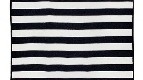 Černobílý oboustranný koberec Homedebleu Sentinus, 120 x 180 cm