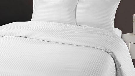 Bílé povlečení z mikroperkálu na jednolůžko Sleeptime Dallas,140x200cm