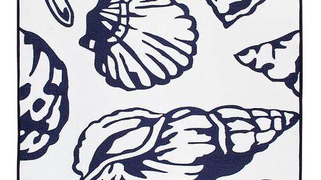 Modrobílý oboustranný koberec Homedebleu Oyster, 120 x 180 cm