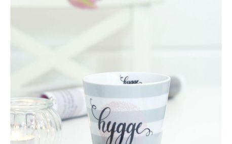 Krasilnikoff Latte hrneček Hygge, růžová barva, šedá barva, porcelán
