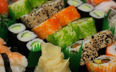 Až 32 kousků sushi vč. specialit s úhořem