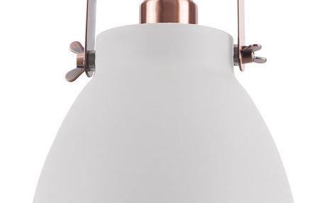 Bílé závěsné svítidlo s detaily v měděné barvě Leitmotiv Mingle, ⌀26,5cm