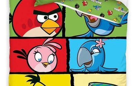 Tip Trade Bavlněné povlečení Angry Birds 7007, 140 x 200 cm, 70 x 80 cm