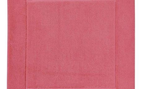 Růžová koupelnová předložka z egyptské bavlny Aquanova London, 60x60cm