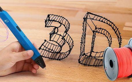 3D pera a barevné struny pro vytváření 3D modelů