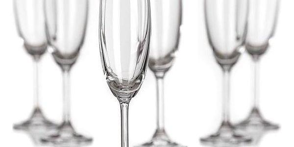 Banquet Crystal Sklenice na sekt Leona 210 ml5