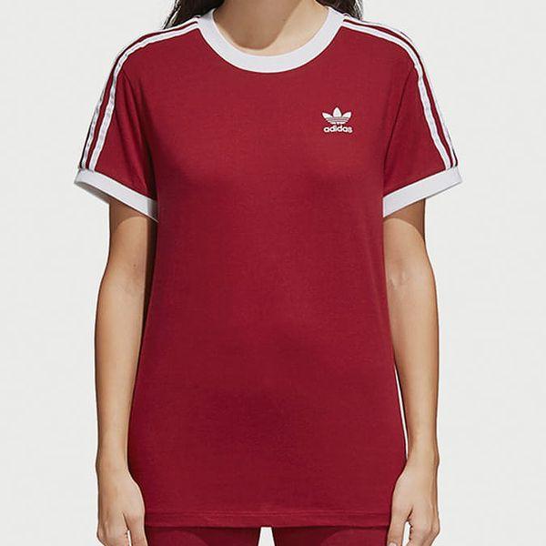 Tričko adidas Originals 3 Stripes Tee Červená