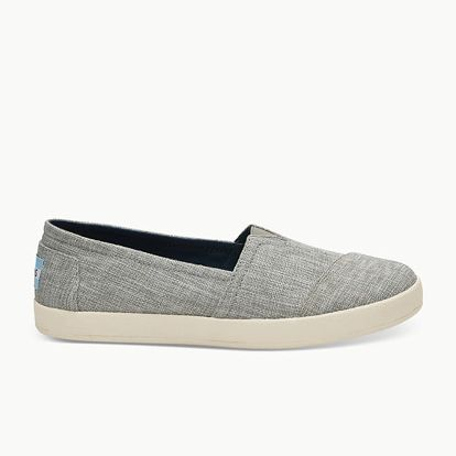 Boty Toms Drzl Grey Metallic Woven Wm Ava Slipon Šedá