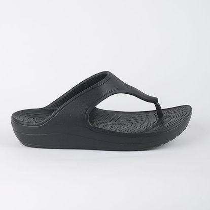 Žabky Crocs Women's Sloane Platform Flip Černá